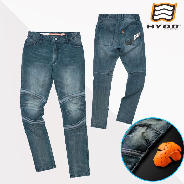 HYOD PRODUCTS HYD536D HYOD D3O BIKERS 3D PANTS INDIGO(aged-wash)◆全3色◆