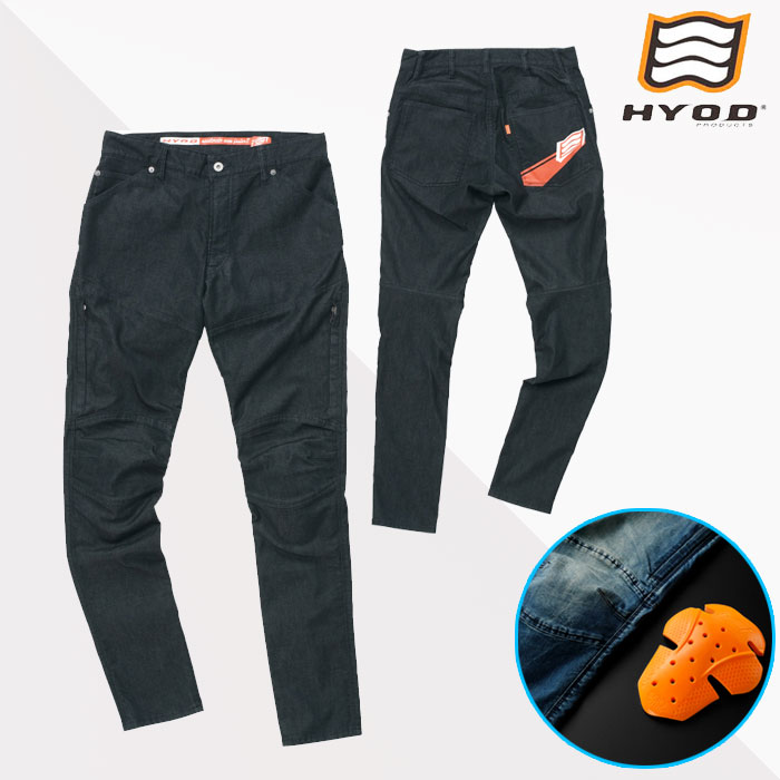 HYOD PRODUCTS HYD537D HYOD D3O BIKERS ZIP VENT BLACK(one-wash)◆全4色◆