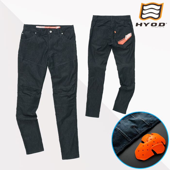 HYOD PRODUCTS HYD532D D3O BIKERS PANTS バイカーズパンツ 春夏用 BLACK(one-wash)◆全3色◆
