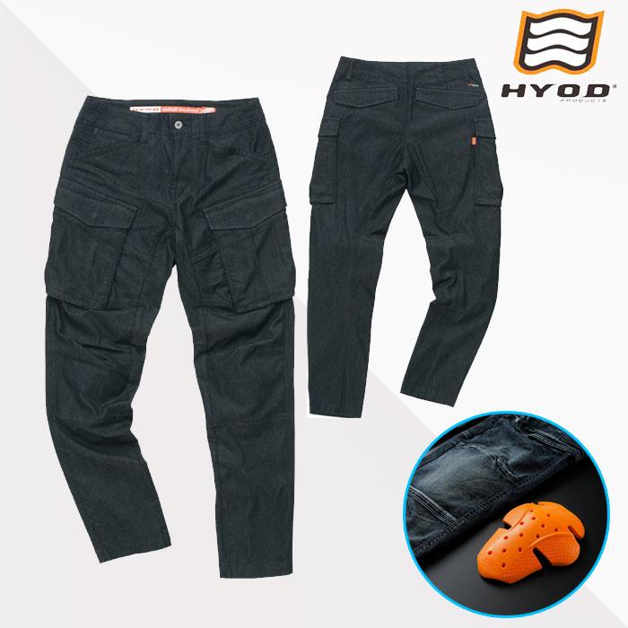 HYOD PRODUCTS HYD534D HYOD D3O 3D CARGO PANTS カーゴパンツ 春夏用 BLACK(one-wash)◆全3色◆