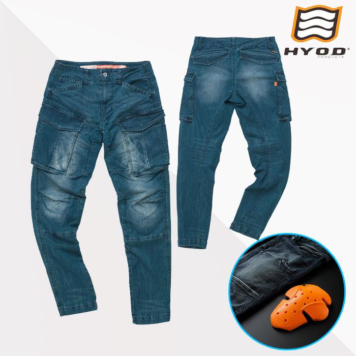 HYOD PRODUCTS HYD534D HYOD D3O 3D CARGO PANTS カーゴパンツ 春夏用 INDIGO(grey-dye)◆全3色◆