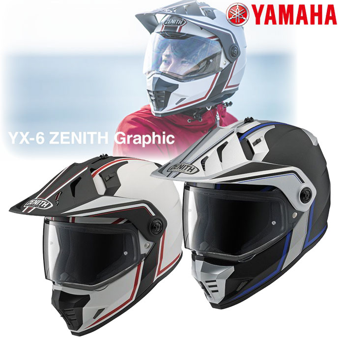 Y'S GEAR YX-6 ZENITH Graphic オフロードヘルメット