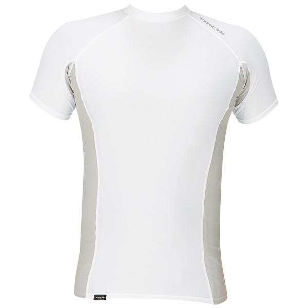 アールエスタイチ 【アウトレット】RSタイチ クールライドストレッチアンダーシャツ ショートスリーブ ホワイト/シルバー