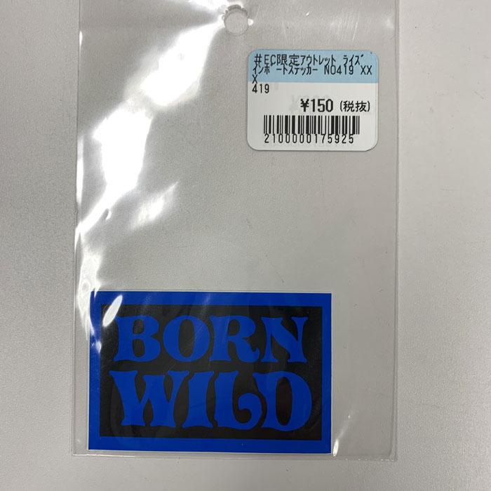 RIDEZ 【アウトレット】ライズ インポートステッカー NO419