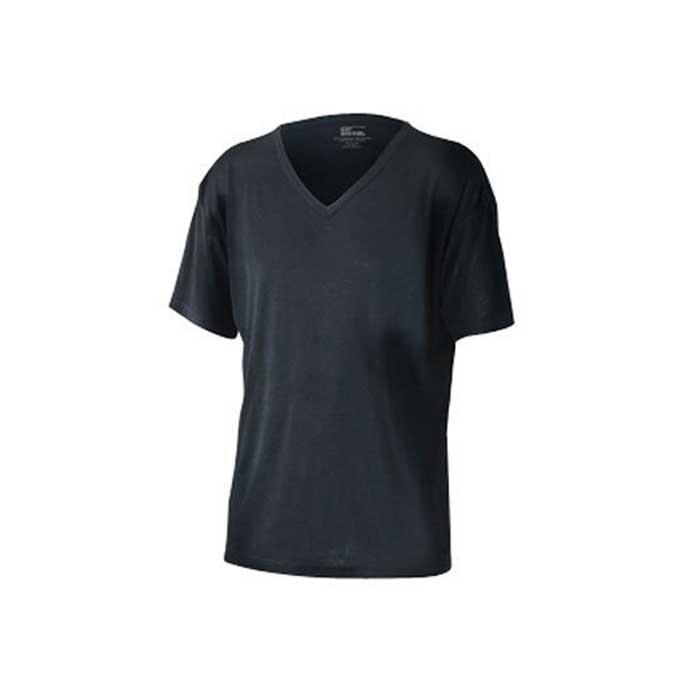 おたふく手袋 【アウトレット】個別配送のみ BTサーモ アンダーシャツ半袖Vネック 防寒 ブラック