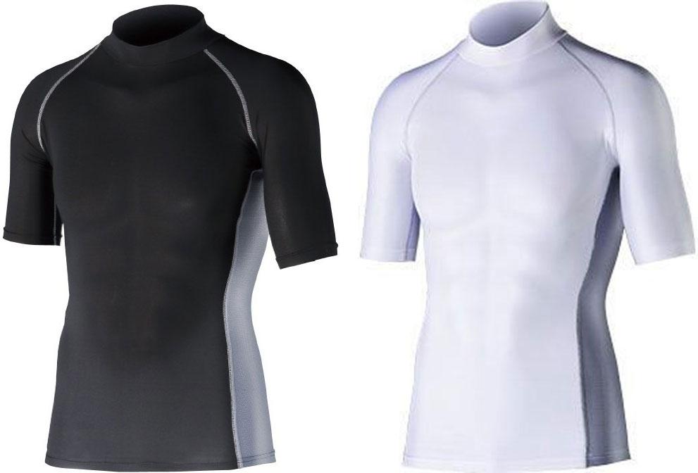 おたふく手袋 【アウトレット】JW-624 冷感消臭 パワーストレッチ 半袖ハイネックシャツ