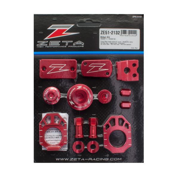 DIRTFREAK 【WEB価格】ZE51-2132 ZETA ビレットキット KX250F'11-16,KX450F'09-15 RED