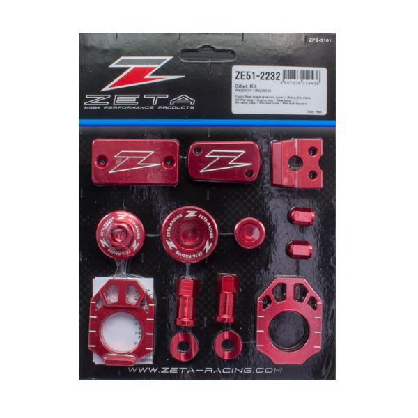 DIRTFREAK 【WEB価格】ZE51-2232 ZETA ビレットキット RMZ250'07-,RMZ450'05- RED