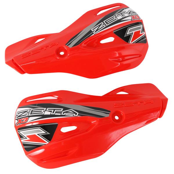 DIRTFREAK 【WEB価格】ZE74-4205 ZETA MXハンドガード X3 リプレースメントガード RED
