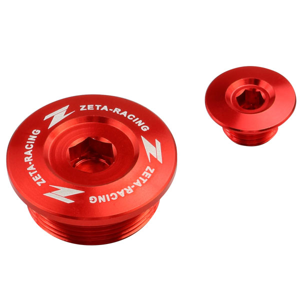 DIRTFREAK 【WEB価格】ZE89-1140 ZETA エンジンプラグ RED CRF250R'18-