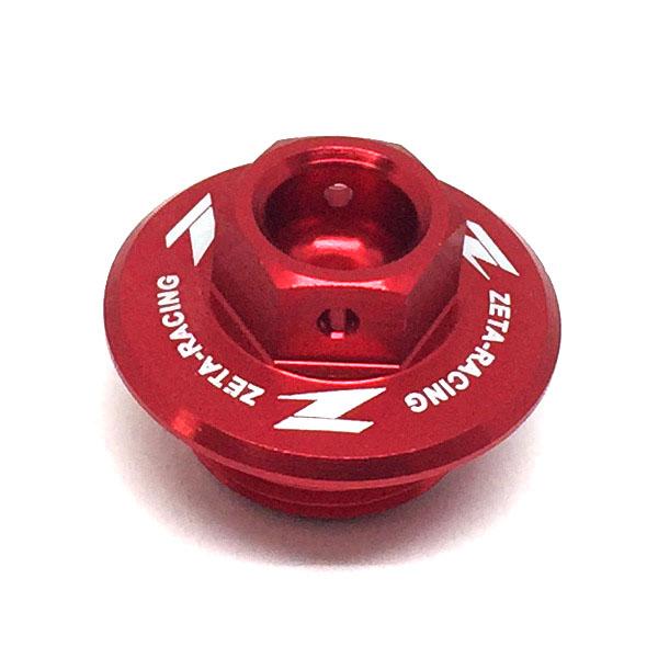 DIRTFREAK 【WEB価格】ZE89-2210 ZETA オイルフィラーキャップ スズキ RED
