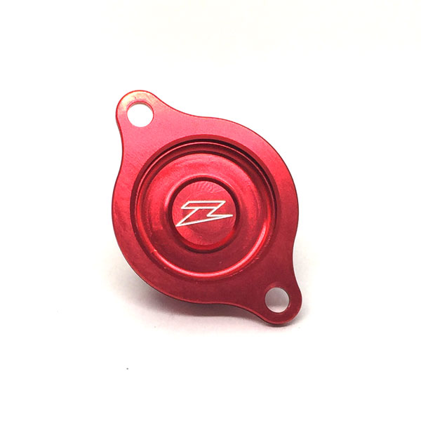 DIRTFREAK 【WEB価格】ZE90-1073 ZETA オイルフィルターカバー CRF450R/X'02-08 RED