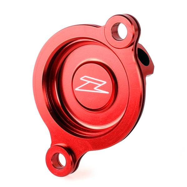 DIRTFREAK ZE90-1093 ZETA オイルフィルターカバー CRF450'17- RED