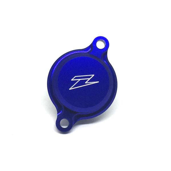 DIRTFREAK 【WEB価格】ZE90-1362 ZETA オイルフィルターカバー YZF450'10 BLUE