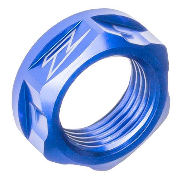 DIRTFREAK ZE93-8036 ZETA アクスル用 ナット M18x24-P1.5 H9 BLUE