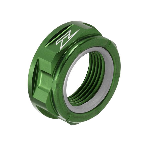 DIRTFREAK ZE93-8055 ZETA アクスル用 ナット M22x32-P1.5 H12L GREEN