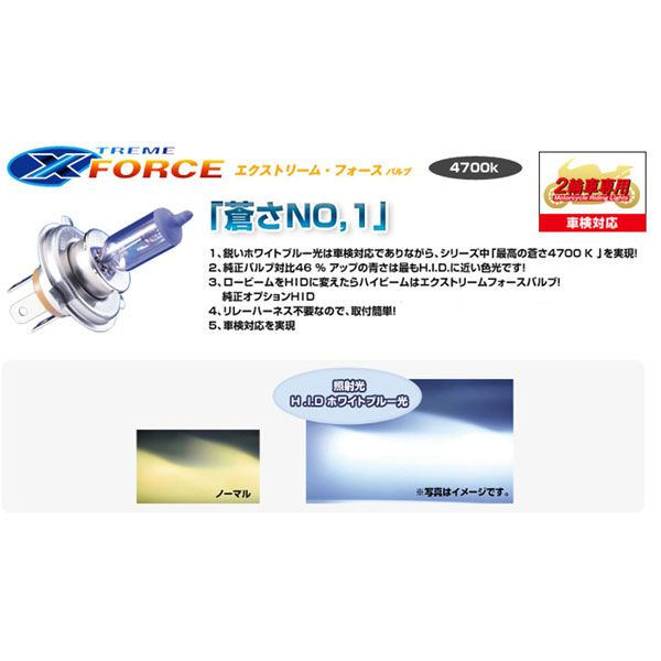 PIAA 【アウトレット】エクストリームフォースバルブ HB 12V 55W
