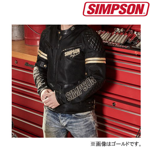 SIMPSON 〔WEB価格〕 NSM-1A メッシュ&レザージャケットTYPE-A ゴールド