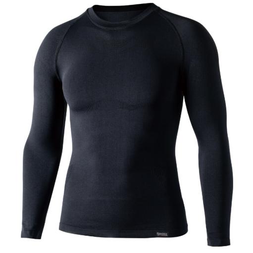 おたふく手袋 JW-592 BTデュアルクロス ロングスリーブ クルーネックシャツ ブラック