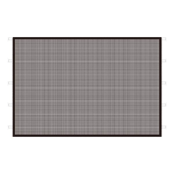 DIRTFREAK 【WEB価格】UN29-1331 UNIT キャノピー サイドパネル メッシュ ブラック 3m
