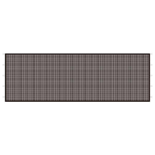 DIRTFREAK UN29-1361 UNIT キャノピー サイドパネル メッシュ ブラック 6m