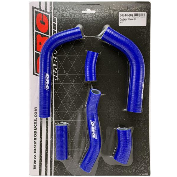 DIRTFREAK D47-01-302 DRC ラジエターホースキット(K) KX450'19- BLUE