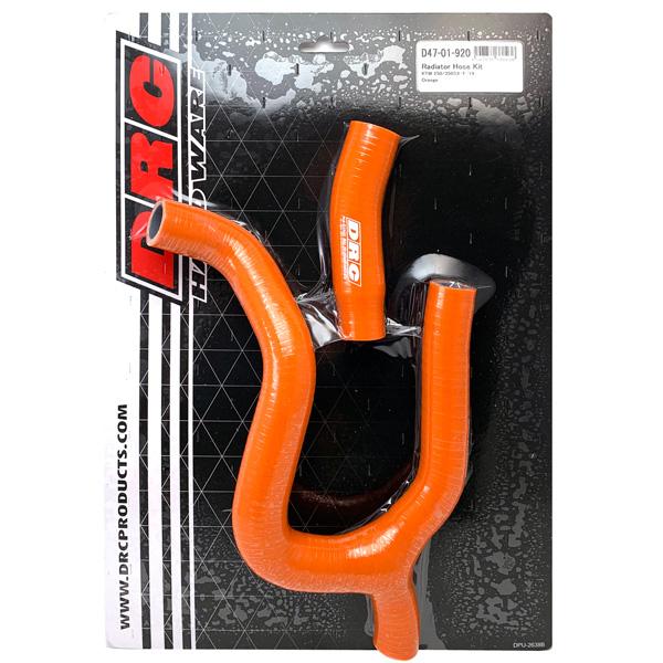 DIRTFREAK 【WEB価格】D47-01-920 DRC ラジエターホースキット KTM 250/350SXF'19- Orange