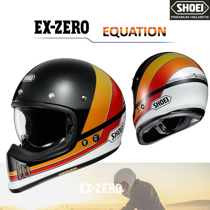 SHOEI ヘルメット EX-ZERO EQUATION【イーエックス - ゼロ イクエージョン】 フルフェイス ヘルメット ブラック/ホワイト