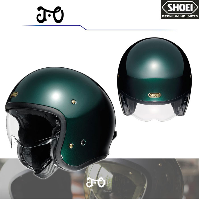 SHOEI ヘルメット J・O【ジェイ・オー】 ジェットヘルメット ブリティッシュグリーン