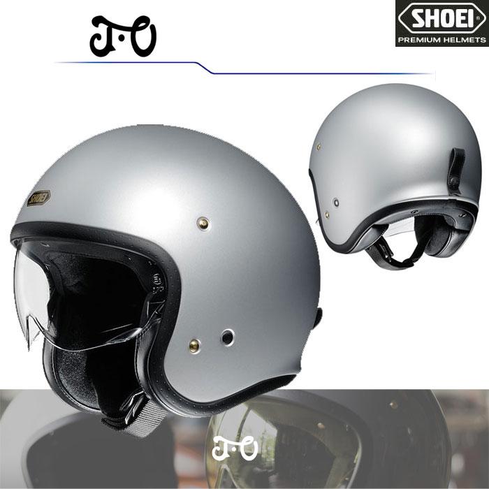 SHOEI ヘルメット J・O【ジェイ・オー】 ジェットヘルメット マットライトシルバー