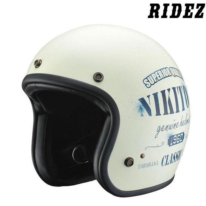 RIDEZ NHL8-21 NIKITOR HELMET アイボリー/ネイビー
