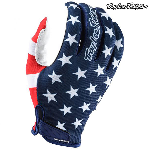 Troy Lee Designs 18-20 エアー グローブ AMERICANA NAVY/RED