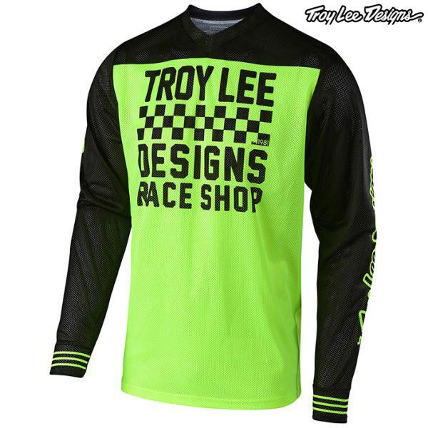 Troy Lee Designs 〔通販限定〕 19-20 GP エアー ジャージ RACESHOP FLO YELLOW