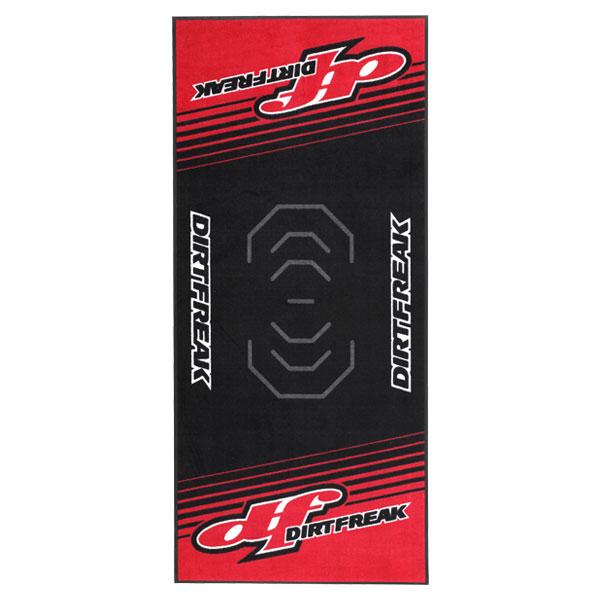DIRTFREAK 【WEB価格】DK241-D03 レーシングマット フロア 100x220cm DF-3 BLK/RED
