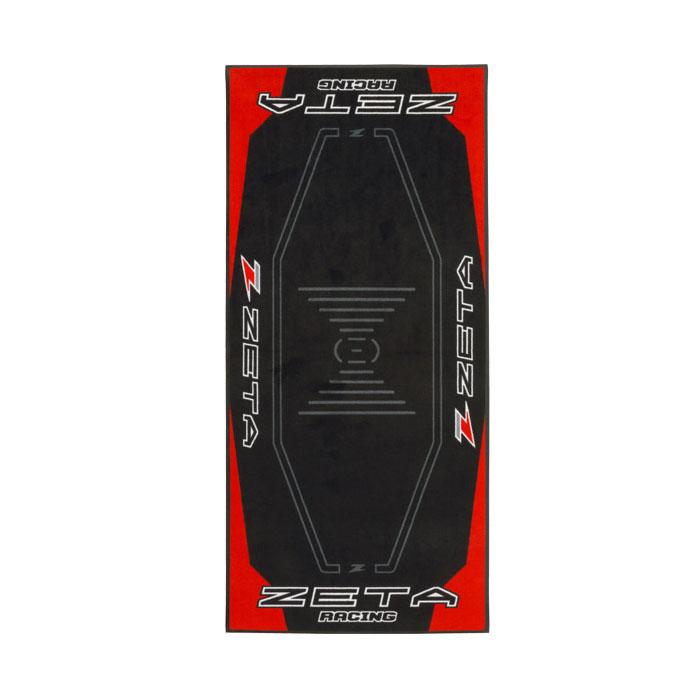 DIRTFREAK DK241-Z11 レーシングマット フロア 100x220cm ZETA RED/BLACK
