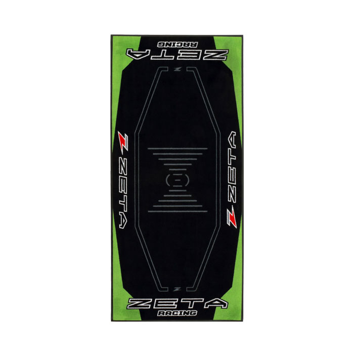 DIRTFREAK DK241-Z13 レーシングマット フロア 100x220cm ZETA GREEN/BLACK