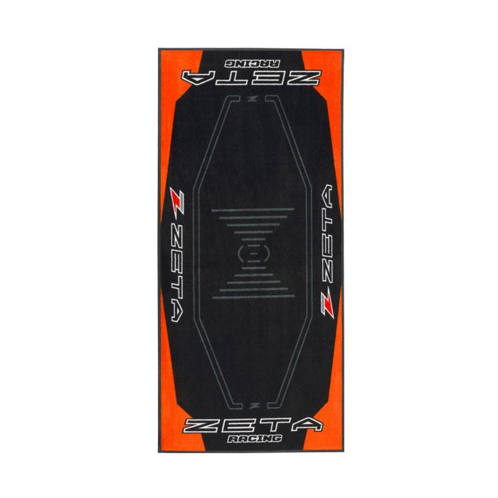 DIRTFREAK DK241-Z15 レーシングマット フロア 100x220cm ZETA ORANGE/BLACK