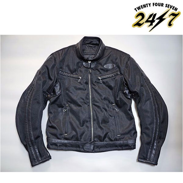 TFJ1801 ビンテージスポーツライドメッシュジャケットBK/BK