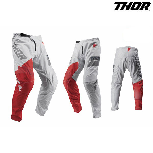 THOR 19 パンツ SECTOR SHEAR L.GRY/RD