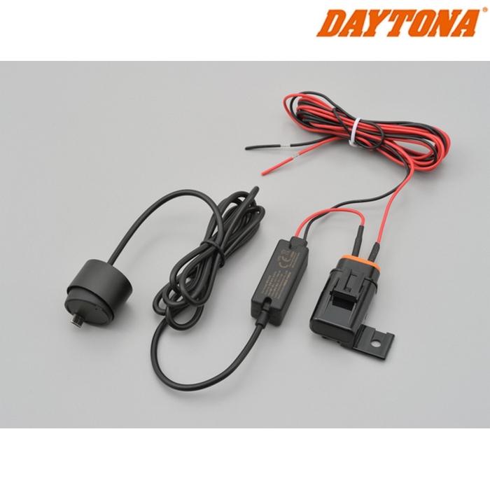 DAYTONA 17109 M777D 1カメラ用12V電源ケーブル(約 3.2m/2A ヒューズボックス付き)