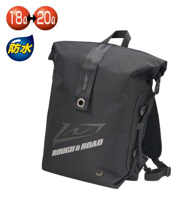 ROUGH&ROAD 〔WEB価格〕RR9411 AQA DRY ザック&シート BLACK BLACK