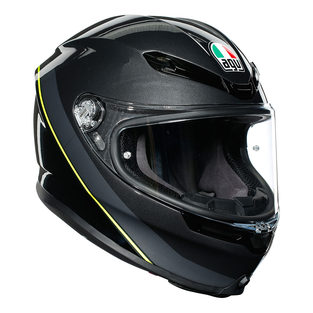 AGV AGVヘルメット K6 006-MINIMAL GUNMET/BK/YE FL