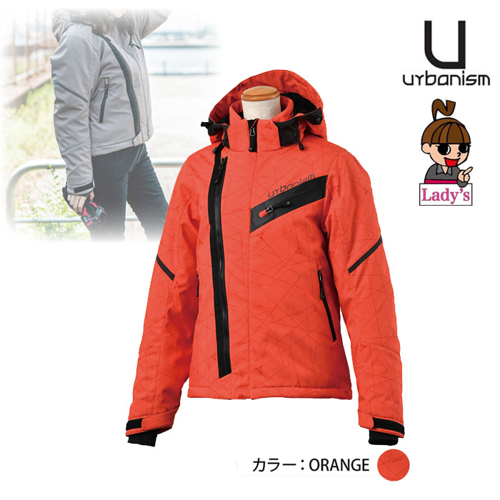 (レディース)UNJ-083W シティライドソフトシェルジャケット ORANGE ◆全3色◆
