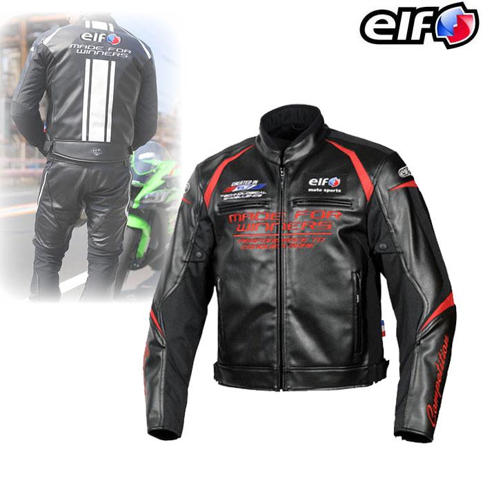elf EJ-W108 エヴォルツィオーネPUレザージャケット Black&Red◆全5色◆