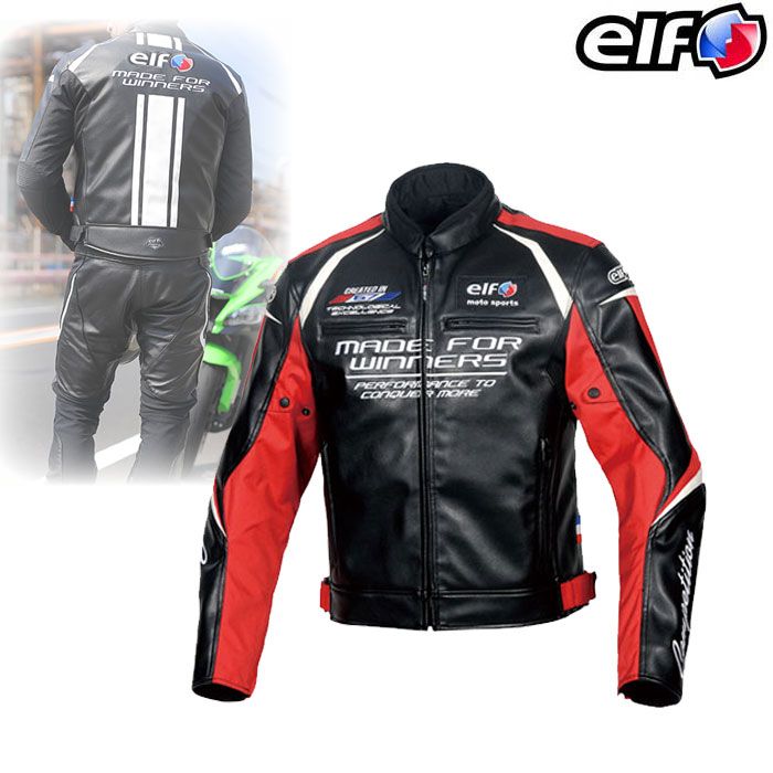 elf EJ-W108 エヴォルツィオーネPUレザージャケット Red◆全5色◆
