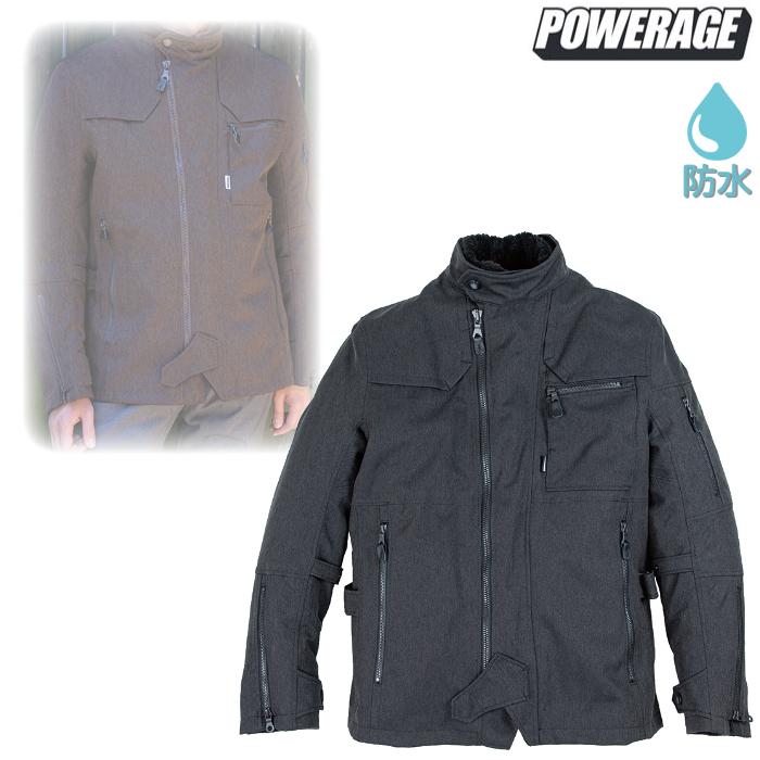 POWERAGE PJ-20203 トレンチライダース ヘリンボーンブラック ◆全4色◆