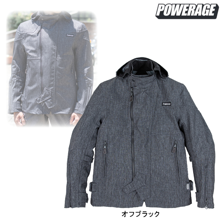 POWERAGE PJ-20301 ウォーターブロックオールシーズンパーカー オフブラック ◆全4色◆