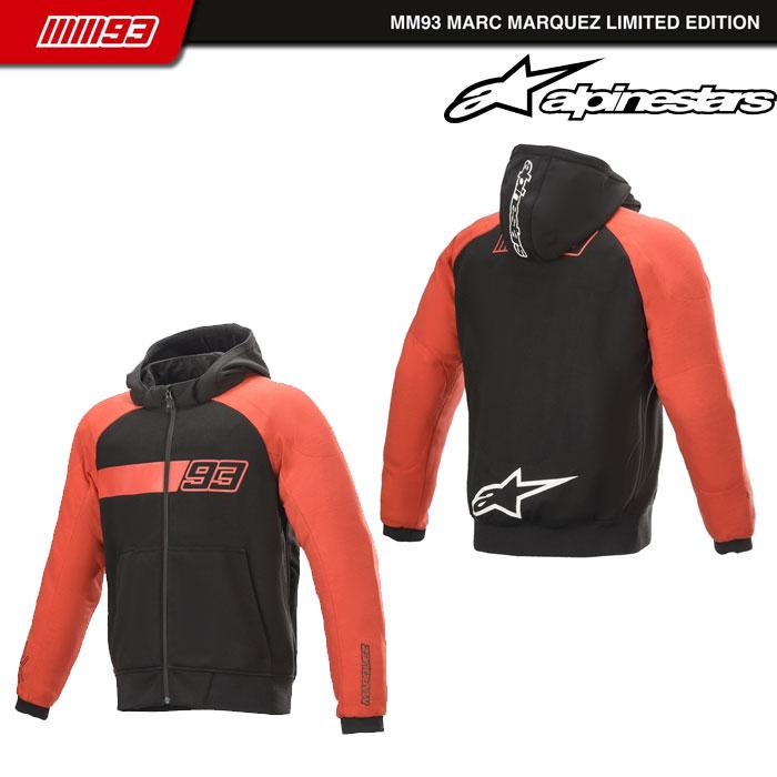 alpinestars ARAGON KEVLAR HOODIE 13 BLACK RED◆全2色◆
