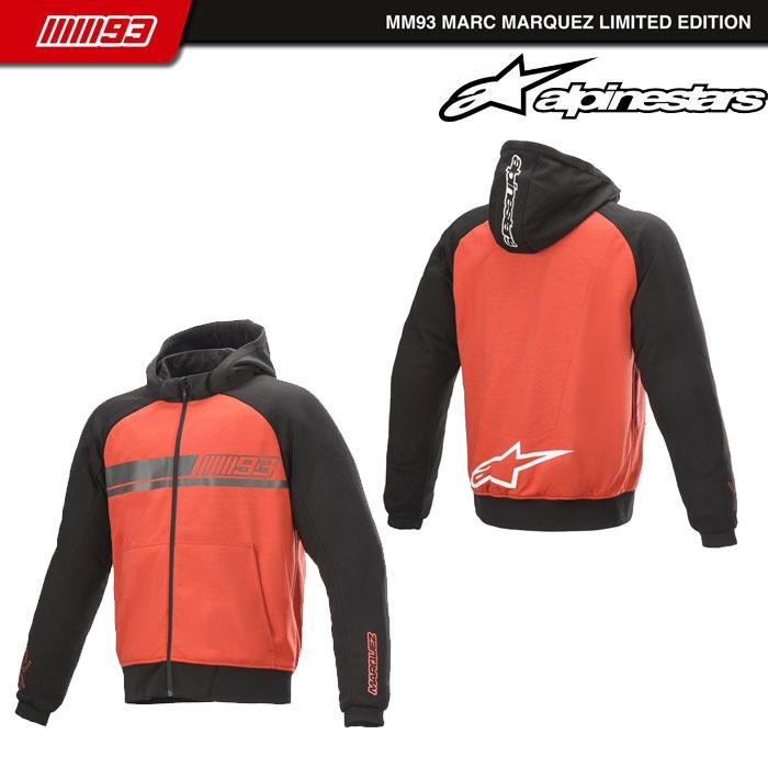 alpinestars ARAGON KEVLAR HOODIE 31 RED BLACK◆全2色◆