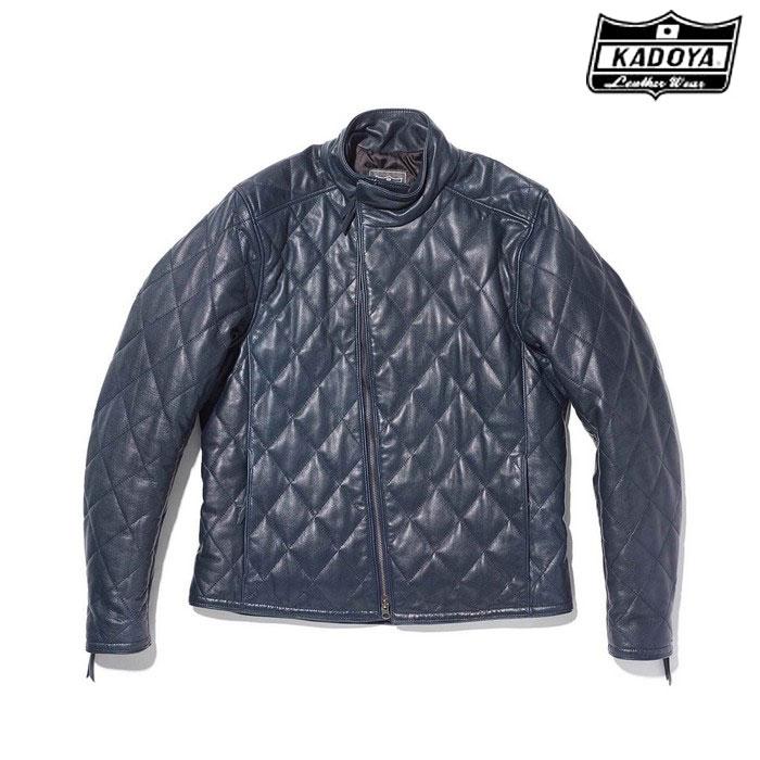 KADOYA 1191 DB9 レザージャケット ネイビー◆全3色◆